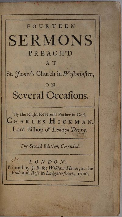 London: Printed by J. B for William Hawes, 1706. Book. Very good condition. Hardcover. Second editio...