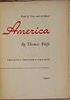 View Image 3 of 3 for AMERICA. From Of Time and the River. Inventory #014638