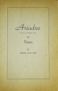 image of Ariadne. A Play in Three Acts and Poems