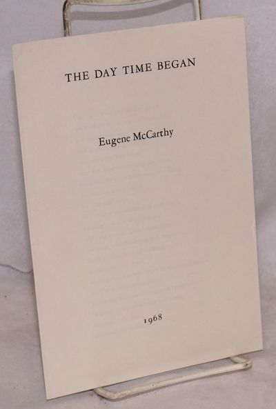 1968. unpaginated wraps in very good condition. An example of McCarthy's poetry.