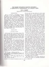 SCHRODINGER'S CAT Die gegenwärtige Situation in der Quantenmechanik (Die Naturwissenschaften 23 pp. pp. 807-812; 823-828; 844-849, 1935) and Translation of Schrödinger's 'Cat Paradox' Paper  (Proceedings of the American Philosophical Society 124 No. 5 pp. 323-338, October 10, 1980)