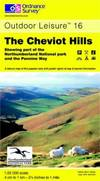 image of The Cheviot Hills (OS Explorer Map Active)