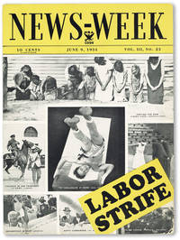 """Advertising Placard for News-Week Magazine, Vol. III, no.23 (June 9, 1934): """"Labor Strife"""""""