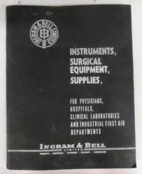 Ingram & Bell Surgical supply catalogue, 1959