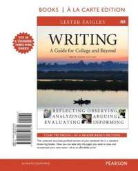 image of Writing: A Guide for College and Beyond, Brief Edition, Books a la Carte Edition (3rd Edition)