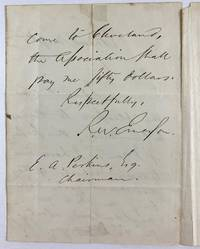 [Emerson, Ralph Waldo- First Edition Essays, Fine Copy With Autograph Letter] Essays