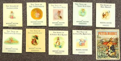 Very Good. 9 hardcovers and 1 paperback. The paperback of Peter Rabbit is for young readers and text...
