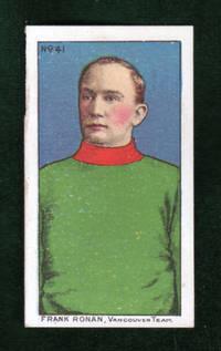 image of Frank Ronan Vintage Lacrosse Trading Card, 1910 Imperial Tobacco Cigarette Card, Set C60, Card #41. Vancouver Team.