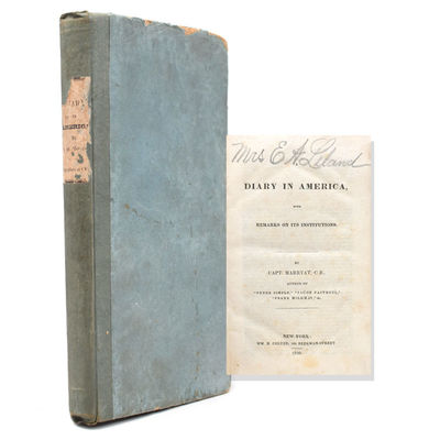 New York: Wm. H., Colyer, 104 Beekman Street, 1839. Pirated edition following the Carey & Hart, Phil...