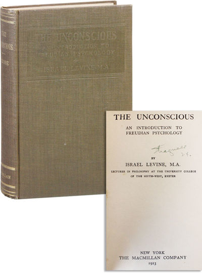 New York: Macmillan, 1923. First American Edition. 12mo (19cm). Brown cloth, lettered in gilt on spi...