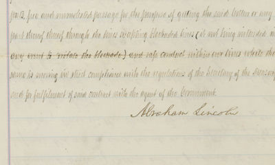 27/12/1864. Abraham Lincoln He orders approval of a lucrative cotton sale contract granted to Robert...
