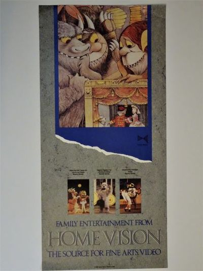 Home Vision , 1988. UNCOMMON poster featuring Maurice Sendak's
