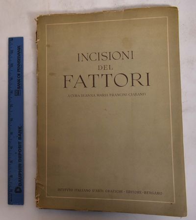 Bergamo: Istituto Italiano d'arti grafiche, 1944. Softcover. Good (spine loose and torn, page edges ...