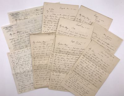 Tonopah, Nv: December 7 - 15, 1907. Very good.. Ten letters, totaling 85pp. Mostly octavo sheets. Ol...