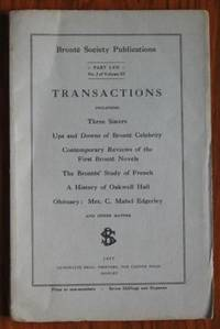Brontë Society Transactions 1947 Part LVII No 2 Volume XI