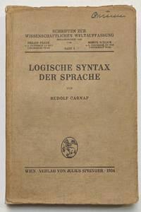 image of Logische syntax der sprache