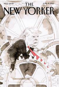 image of NEW YORKER: COVER DONALD TRUMP COG in a WHEEL by BARRY BLITT