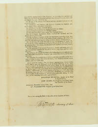 Jefferson Signs Appropriations Bill Funding Federal Government and Making Hamilton's Assumption Act Payments in 1792