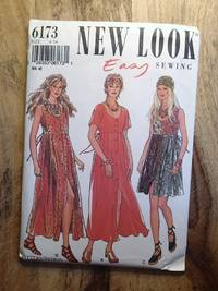 image of NEW LOOK EASY SEWING/SIMPLICTY SEWING PATTERN: #6173: EASY: Misses' Scoop-neck Dress: Size: 6 - 16 (BIN NUMBER 45)