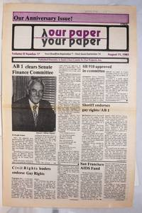 image of Our Paper, Your Paper; the gay family paper of the Santa Clara Valley; vol. 2, #17, August 31, 1983; Anniversary issue