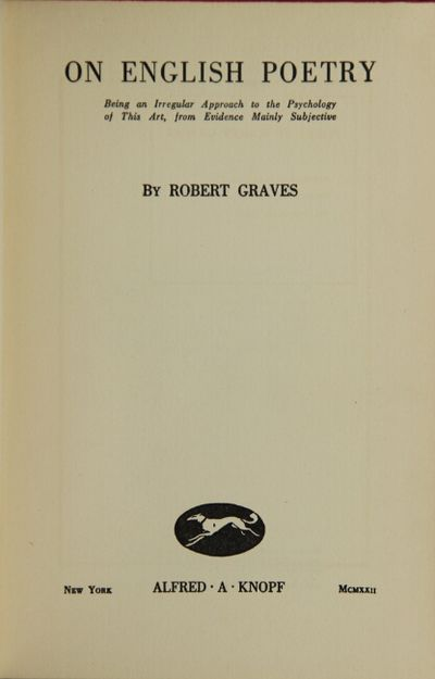 New York: Alfred A. Knopf, 1922. First edition, first issue, 8vo, pp. xi, -149; original orange deco...