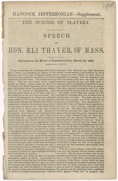 Hancock Jeffersonian Supplement. The...