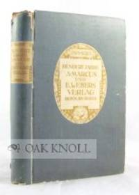 Bonn: Marcus & Weber, 1919. paper-covered boards, paper spine and cover labels. Marcus & Weber. 8vo....