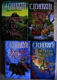 """Tristen series:  Fortress in the Eye of Time; - Fortress of Eagles; - Fortress of Owls; - Fortress of Dragons;  -(1st four books in the """"Tristen"""" series, #1, #2, #3, #4)- -(hard covers with dust jackets)-"""