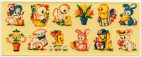 Vintage 1950s Easter Egg Decals