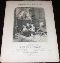 image of Original 1864 Sheet Music Engraved Cover Children's Wreath