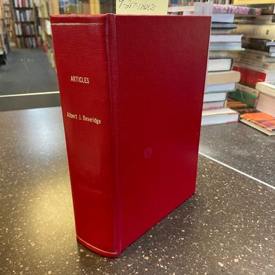 New York, 1899-1919. First Edition. Hardcover. Octavo; VG; bound in red buckram, gilt titling to spi...