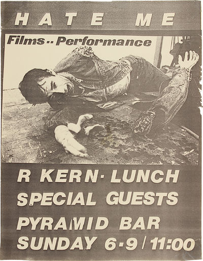 New York: Pyramid Bar, 1985. Right side has some short edge tears and chips, and there are clear tap...