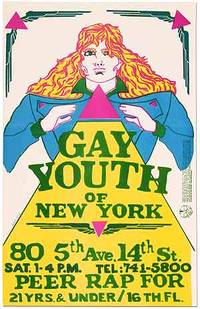 [Broadside]: Gay Youth of New York ... Peer Rap for 21 Yrs. & Under