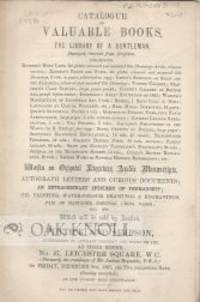 London: Puttick and Simpson, 1867. self paper wrappers. Perkins,W.?. small 8vo. self paper wrappers....