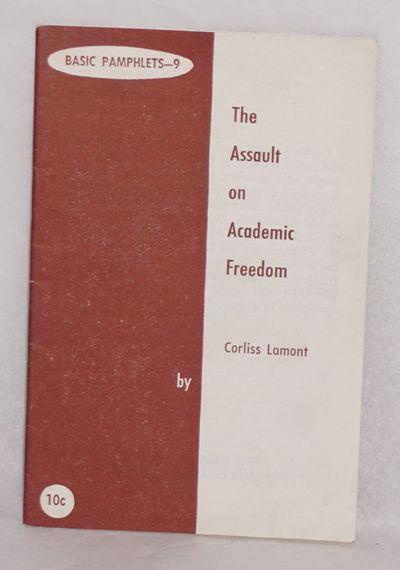 New York: Basic Pamphlets, 1955. 39p., wraps slightly worn, 3.75x5.5 inches. *Seidman L49 Basic pamp...