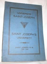 Universite Saint- Joseph ; Saint Joseph, N.B. 1935-1936