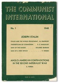 The Communist International, No. 1, January, 1940