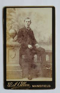 Carte De Visite Photograph. Studio Portrait of Young Man.