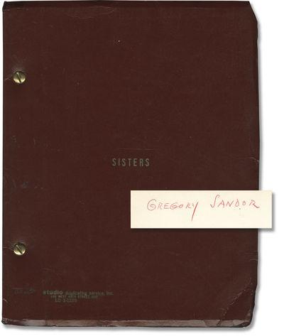 New York: Pressman Williams, 1970. Draft script for the 1973 film. Copy belonging to cinematographer...