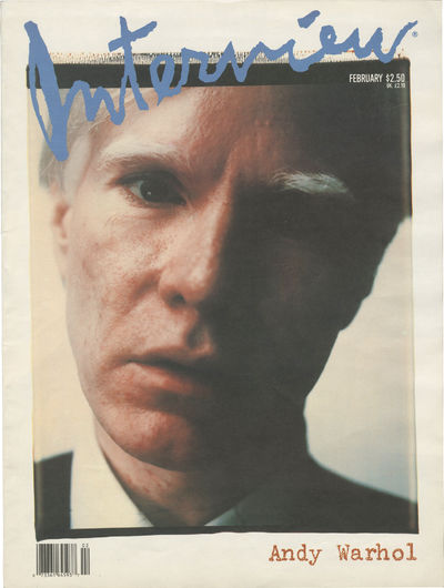 New York: Interview Magazine, 1989. First Edition. Softcover. First Edition. Small folio. Issue with...
