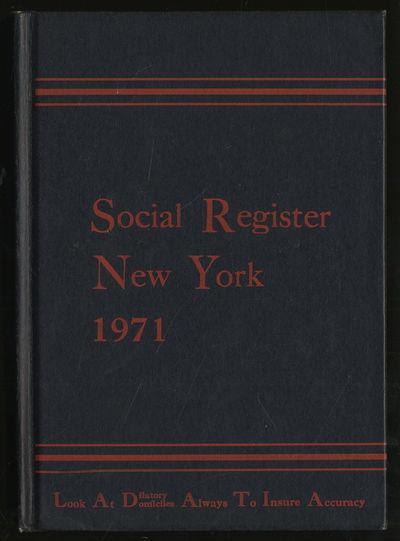 New York: Social Register Association, 1970. Hardcover. Near Fine. First edition. Near fine.