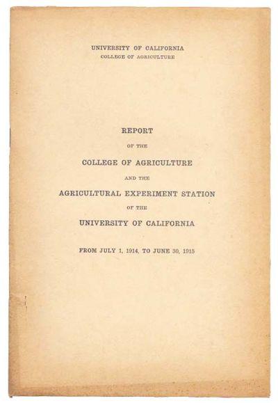 Berkeley: University of California Press, 1915. 1st Printing (cf. Gabler G9484, listing a reprint of...