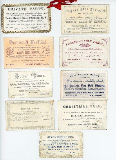 Cayuga County locations: Andrus, McChain & Son, Democrat print, Oliphant etc., 1845-1870. Many of th...