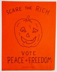 image of Scare the Rich: Vote Peace + Freedom [handbill]