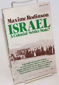 Israel, a colonial-settler state
