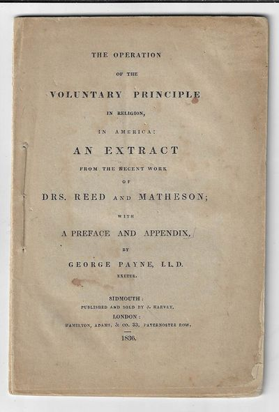Sidmouth and London: J. Harvey and Hamilton, Adams & Co, 1836. Softcover. Very good. xvi, 25 pp, in ...