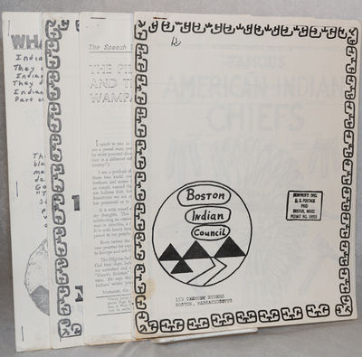 Boston: BIC, 1971. , 8.5x11 inch sheets stapled at upper left corner. Also present are three items i...
