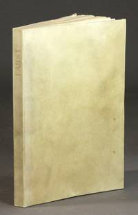 Faust. Eine tragoedie von Goethe