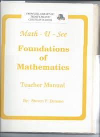 math-u-see foundations of mathematics - teacher edition