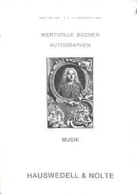 Auktion 236, 9/10 Dec. 1980: Wertvolle Bücher und Autographen, Musik aus  zwei Amerikanischen Privatbibliotheken.